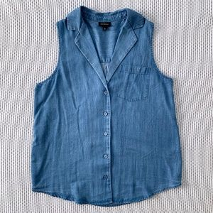 A New Day Target Chambray Sleeveless Button-Up Top
